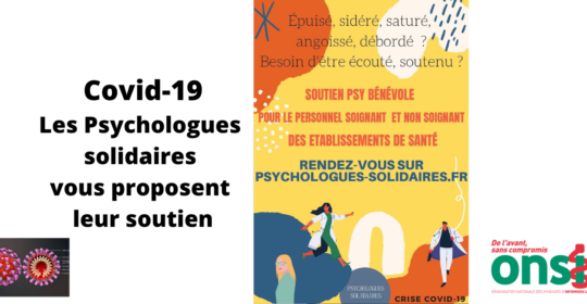 Covid-19 : Psychologues solidaires